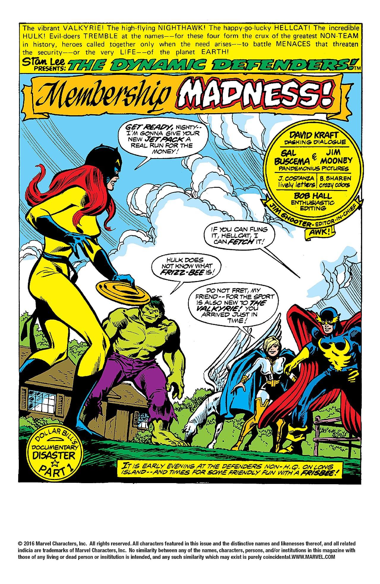 Defenders (1972-1986) #62