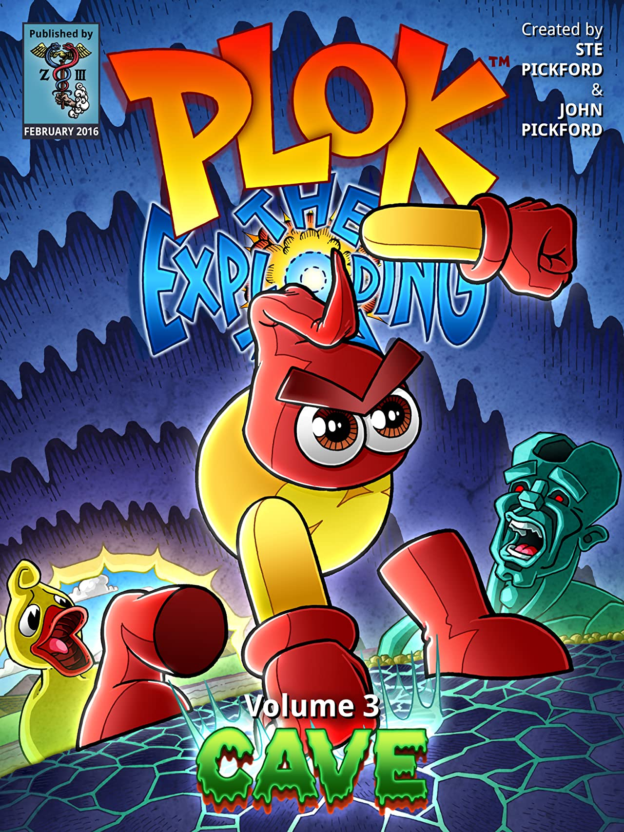 Plok The Exploding Man Vol. 3: Cave