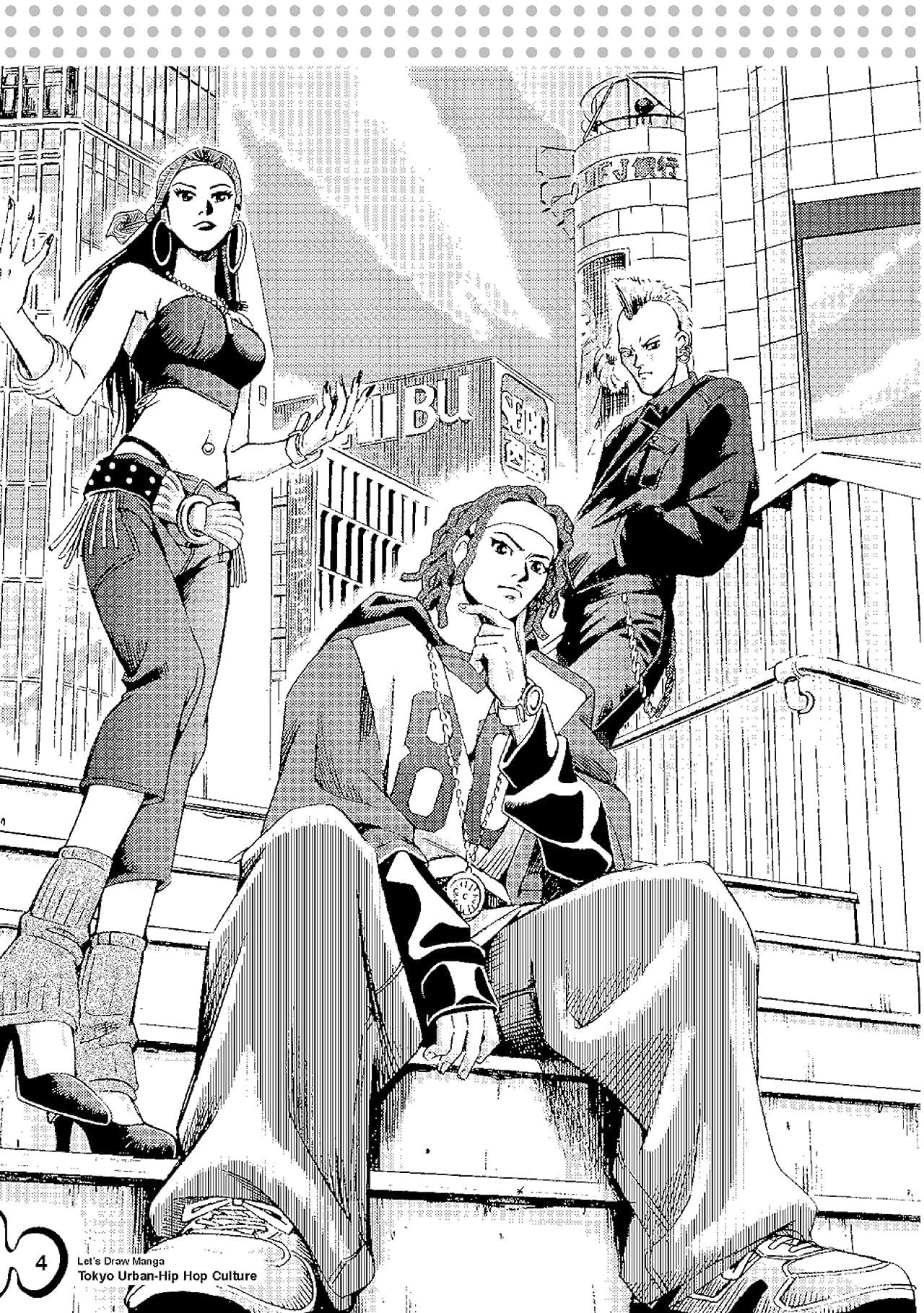 Let's Draw Manga: Tokyo-Urban Hip Hop Culture: Tokyo-Urban Hip Hop Culture Preview