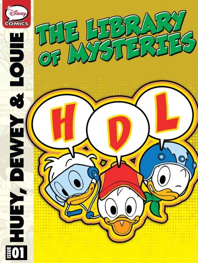 Huey, Dewey and Louie in the Library of Mysteries