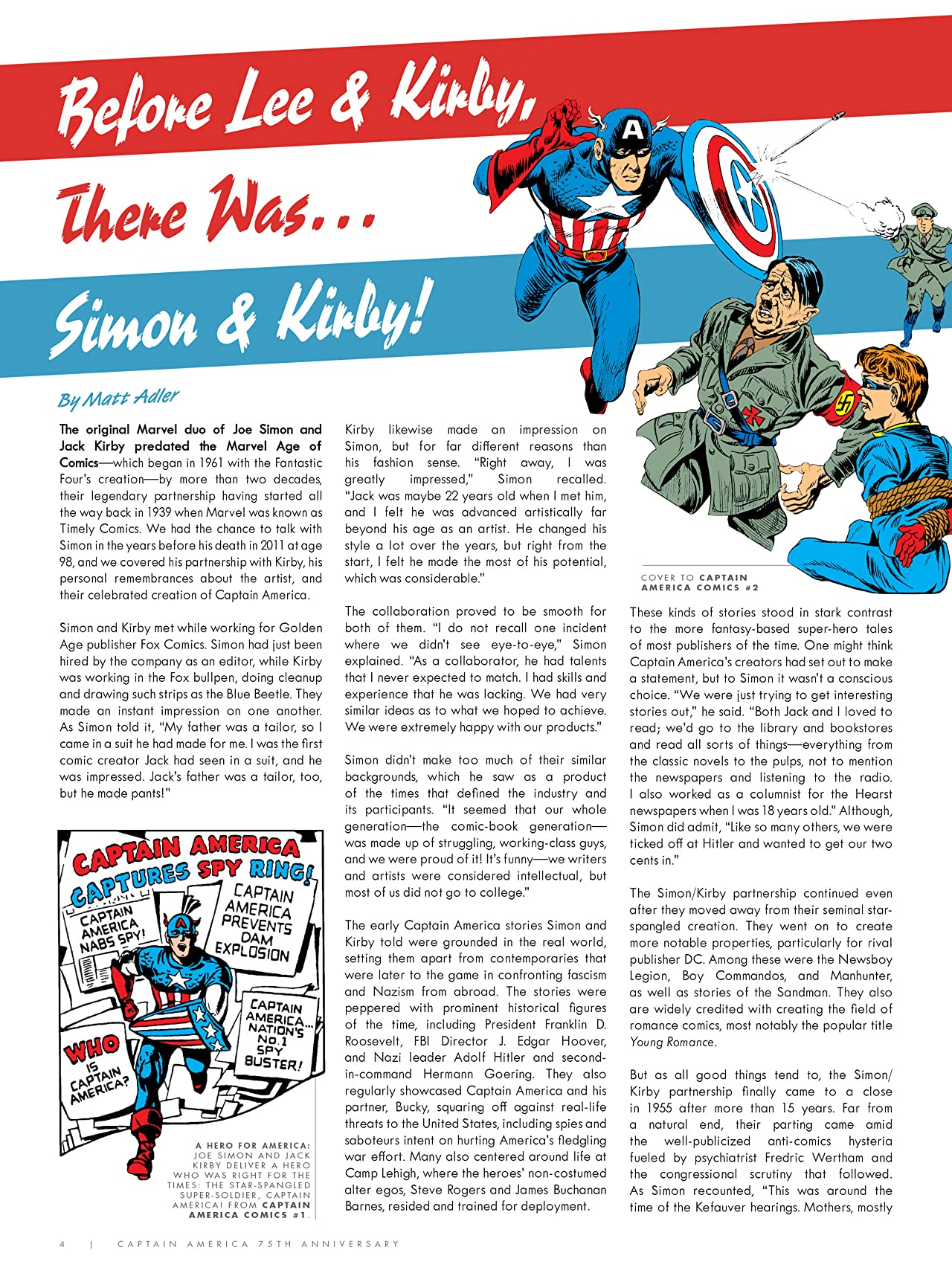 Captain America 75th Anniversary Magazine #1