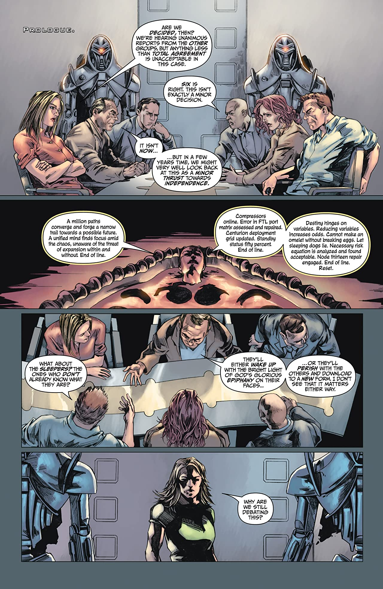 Battlestar Galactica #1 (of 4): Ghosts