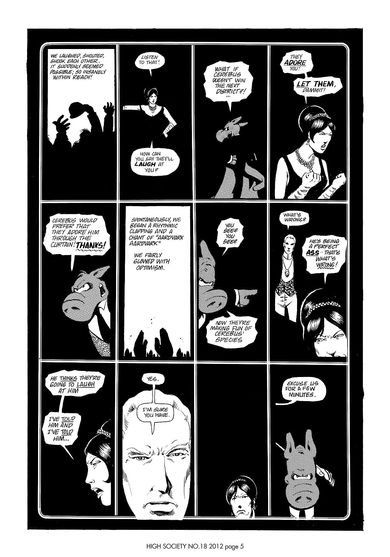 Cerebus Vol. 2 #18: High Society