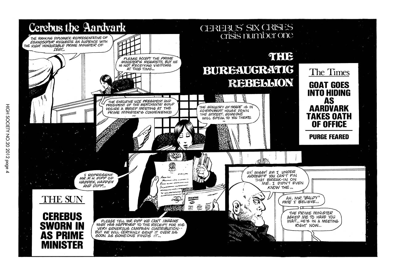 Cerebus Vol. 2 #20: High Society