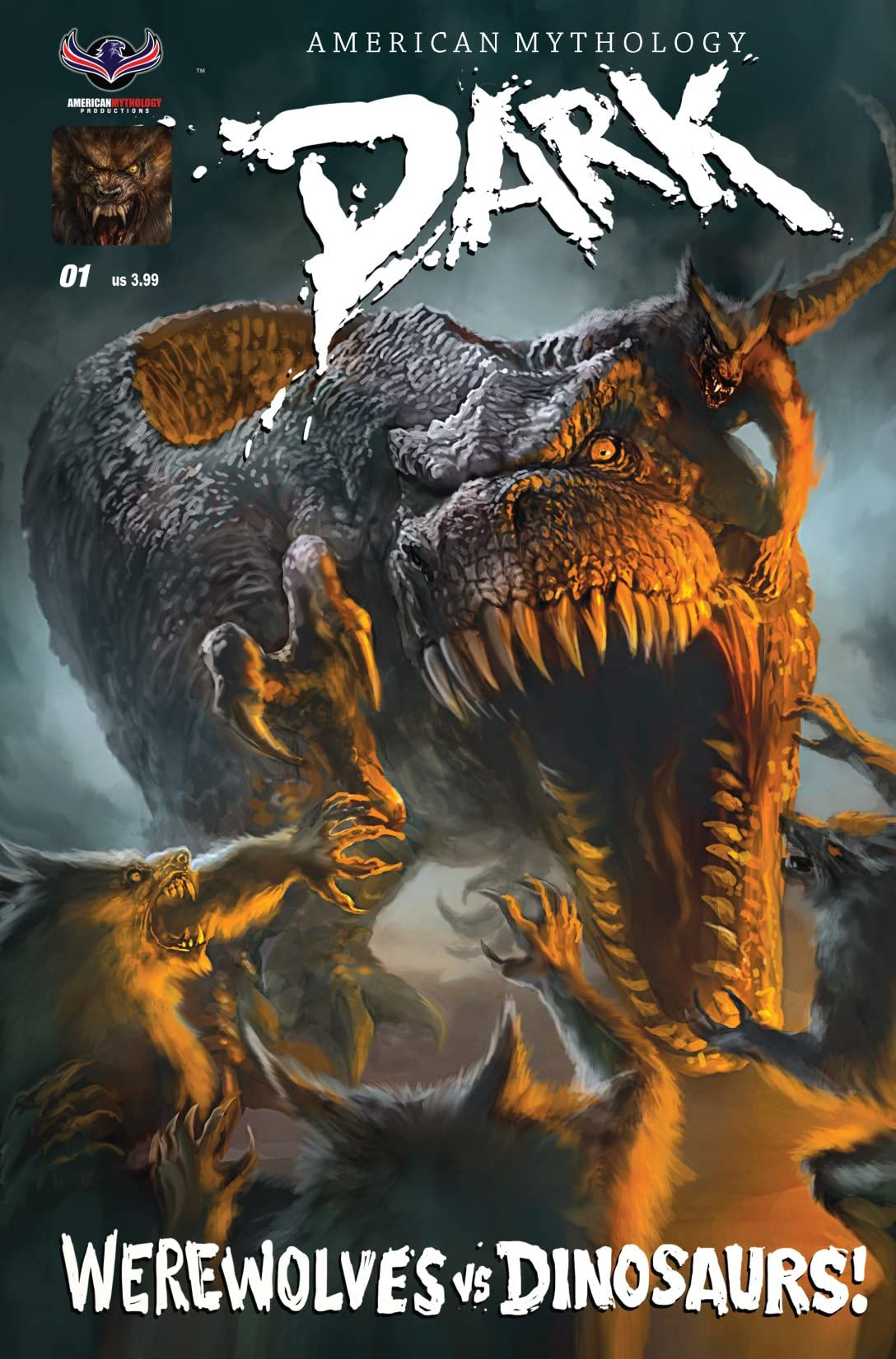 American Mythology Dark: Werewolves Vs Dinosaurs #1