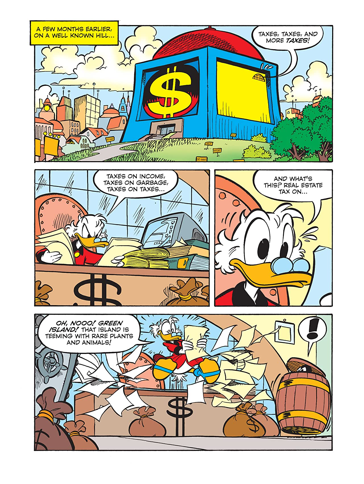 Scrooge McDuck and the Exclusive Oasis