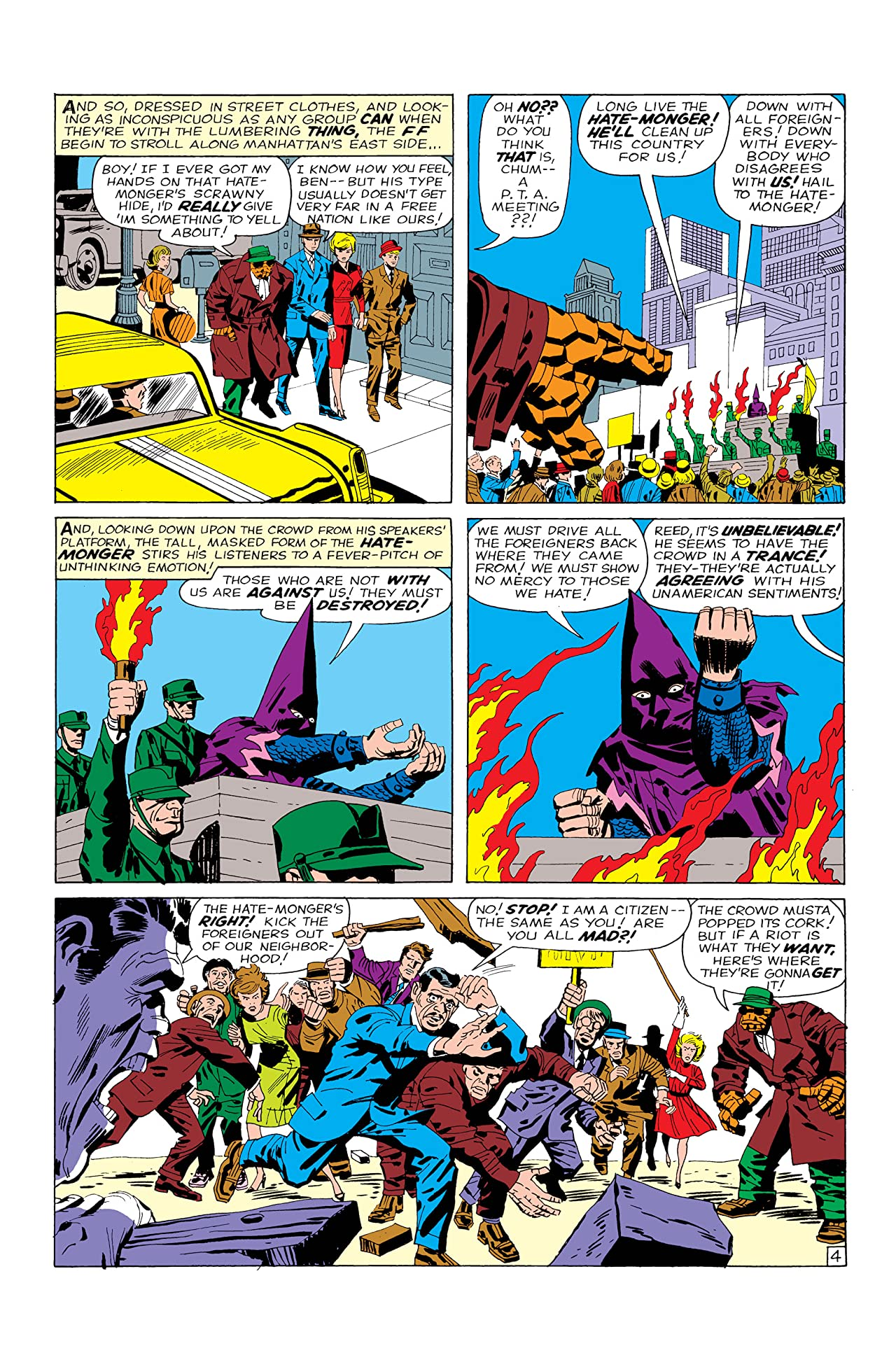 Image result for Hate Monger first appearance fantastic four 21