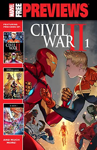 Marvel Civil War II Previews #1