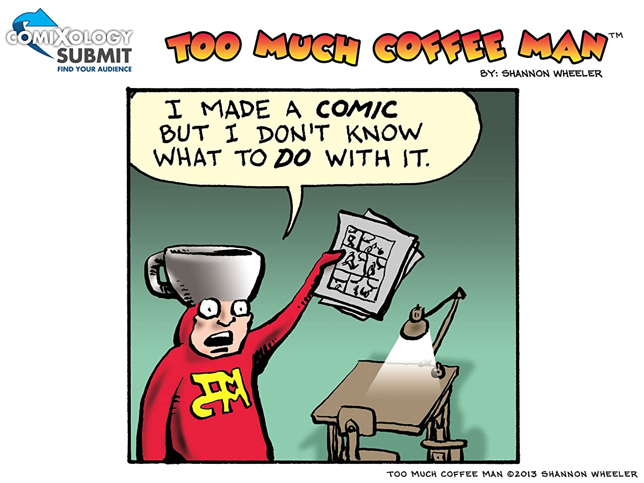 Too Much Coffee Man: comiXology Submit Strips #1