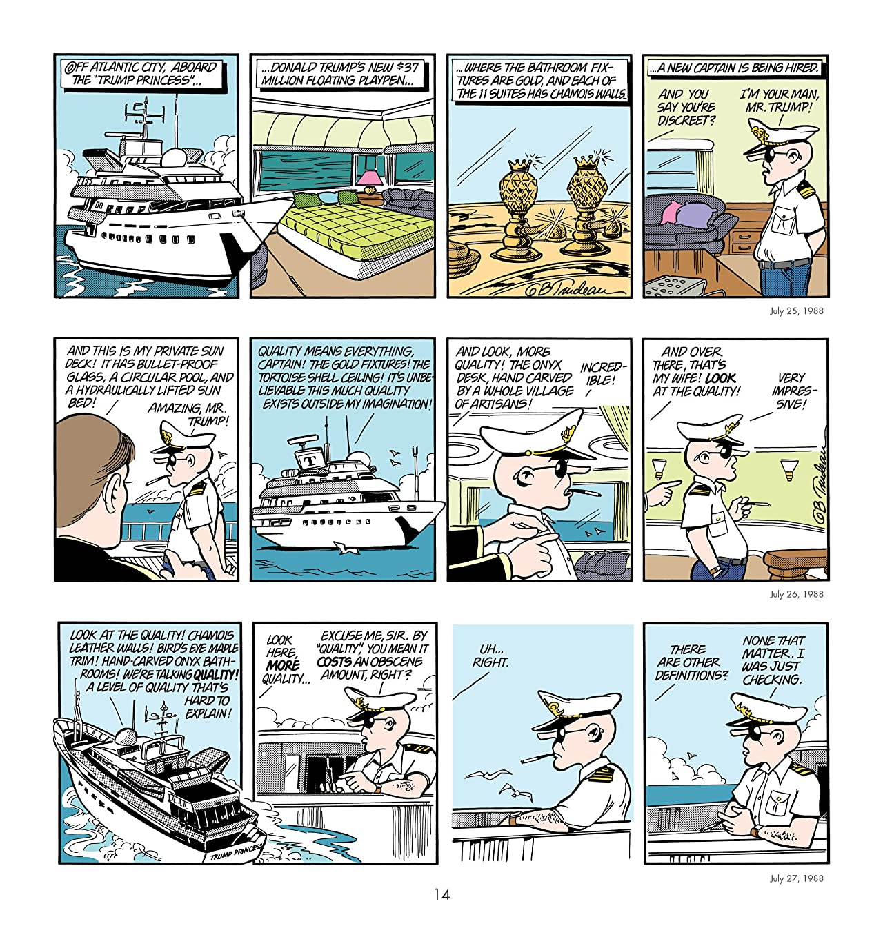Yuge: 30 Years of Doonesbury on Trump