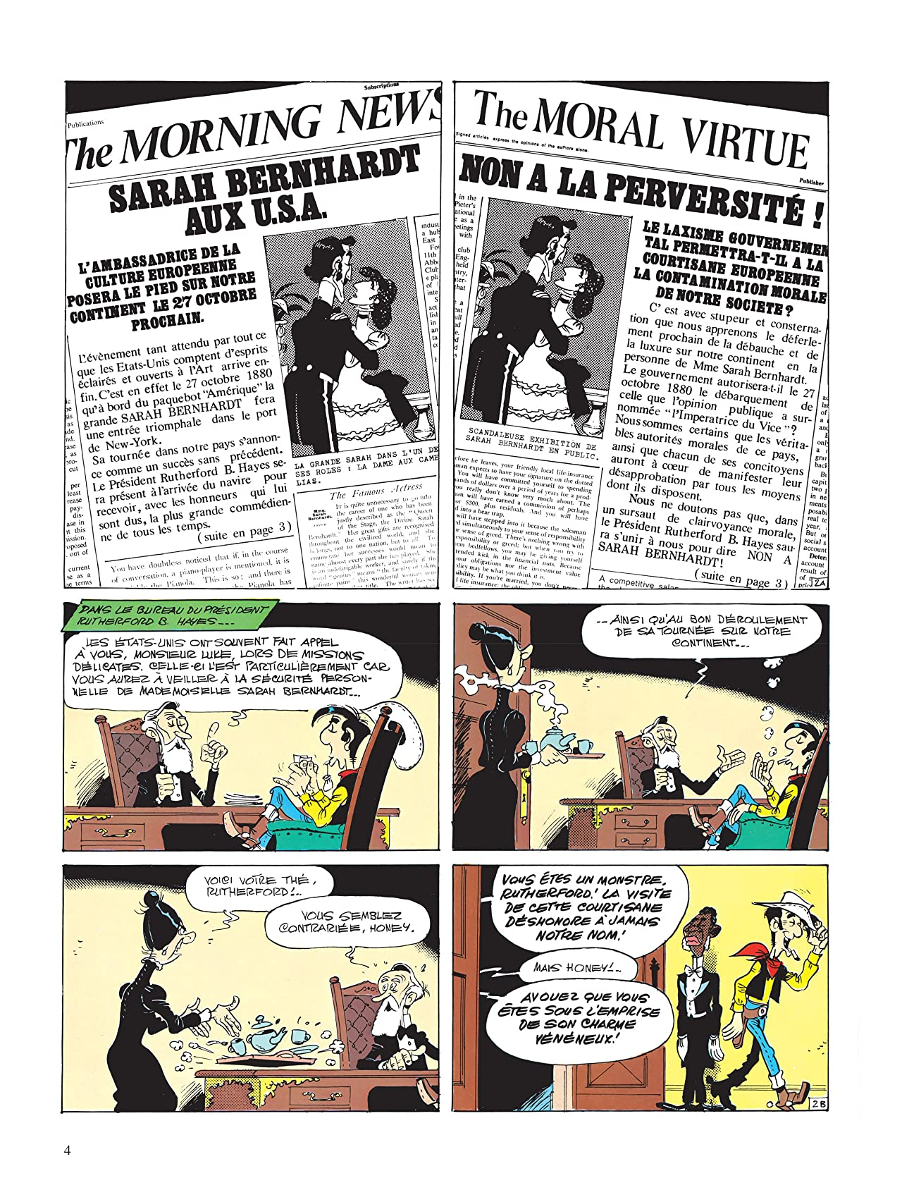 Lucky Luke Vol. 19: Sarah Bernhardt