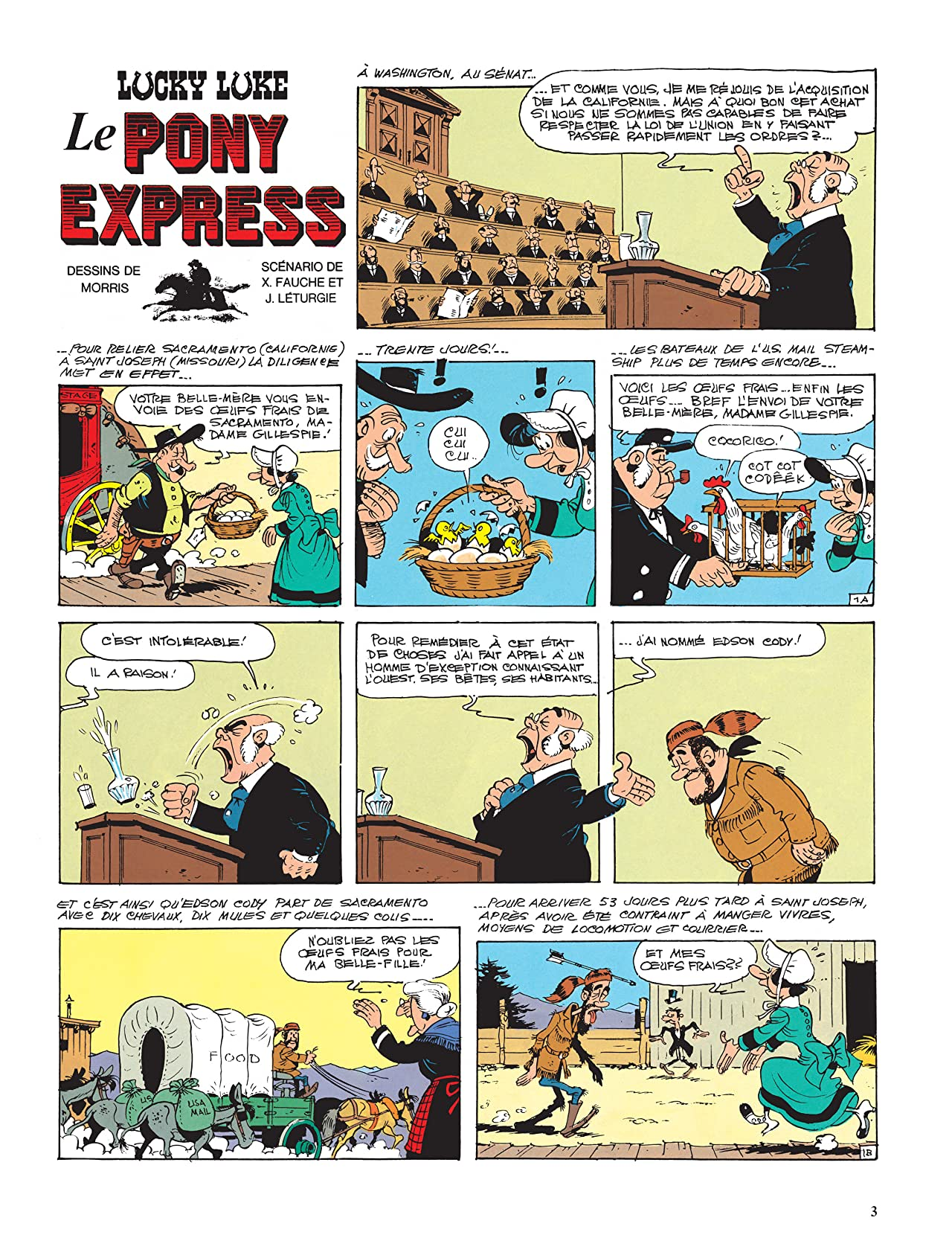 Lucky Luke Vol. 28: Le Pony Express