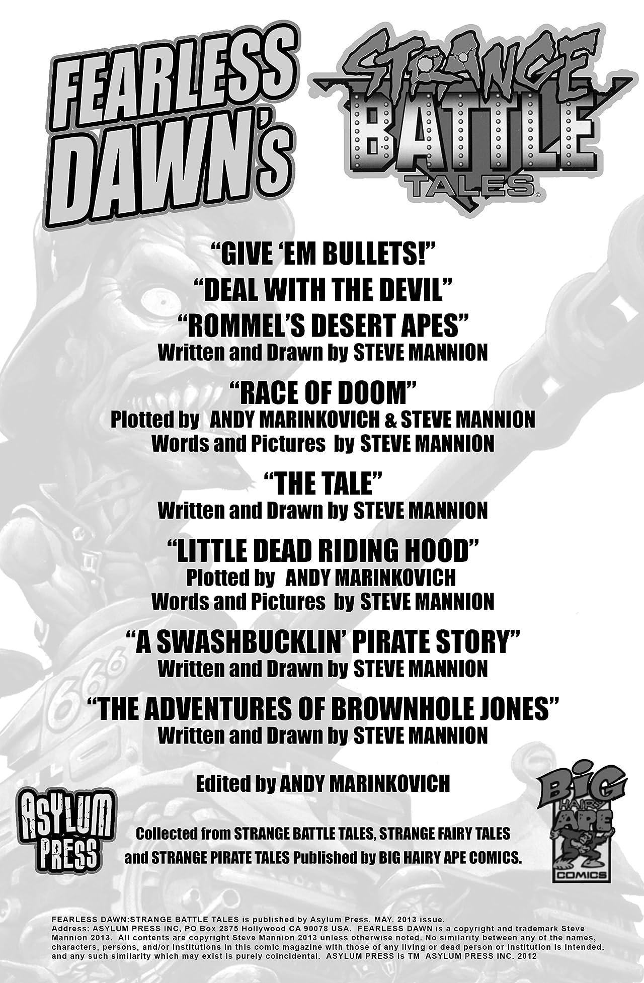 Fearless Dawn's Strange Battle Tales Vol. 1