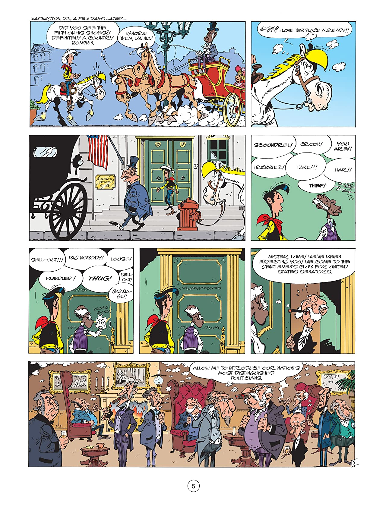 Lucky Luke Vol. 39: The man of Washington