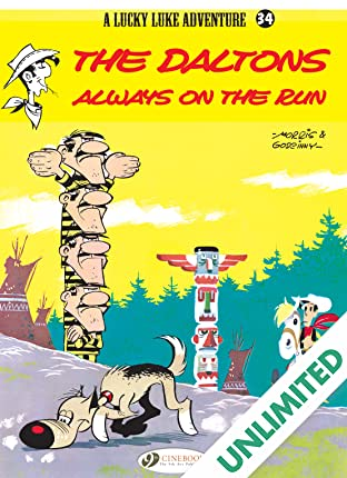 Lucky Luke Vol. 34: The Daltons Always on the Run