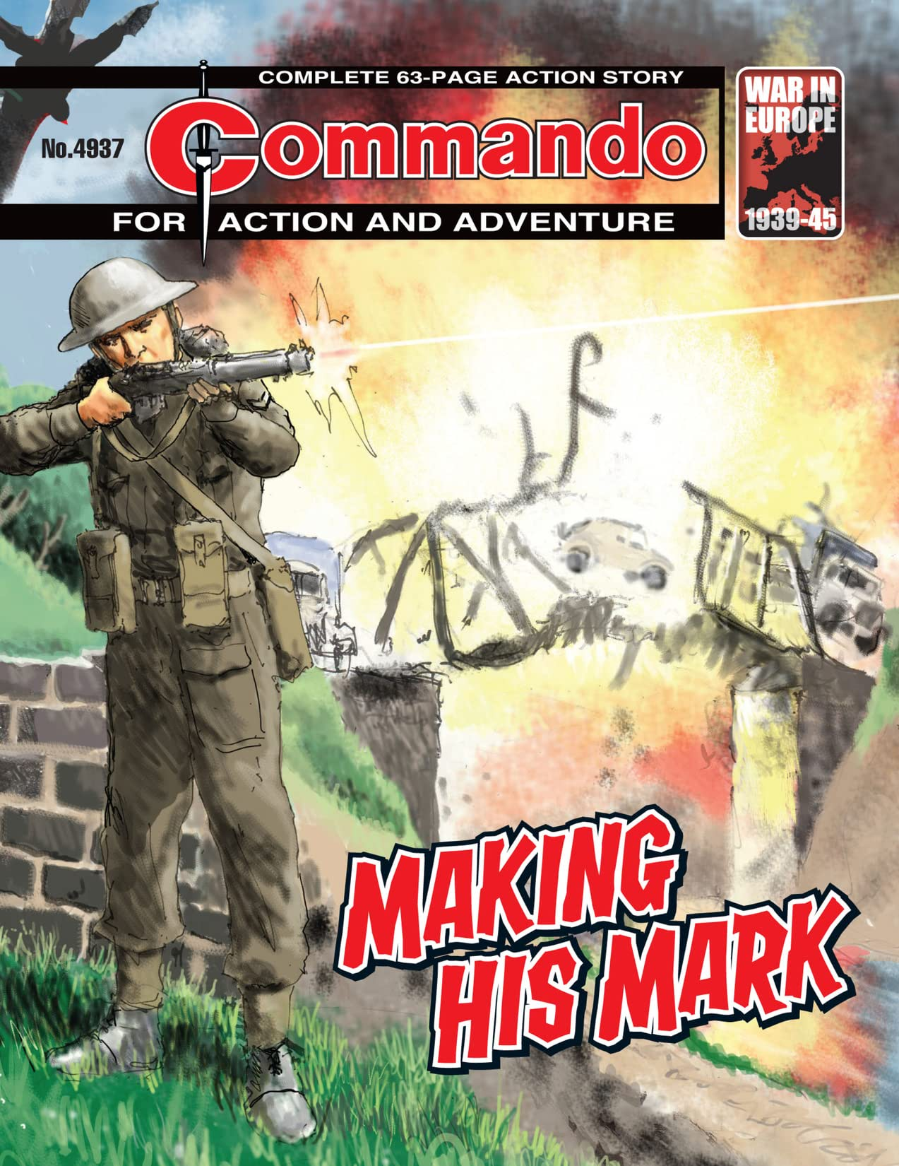 Commando #4937: Making His Mark
