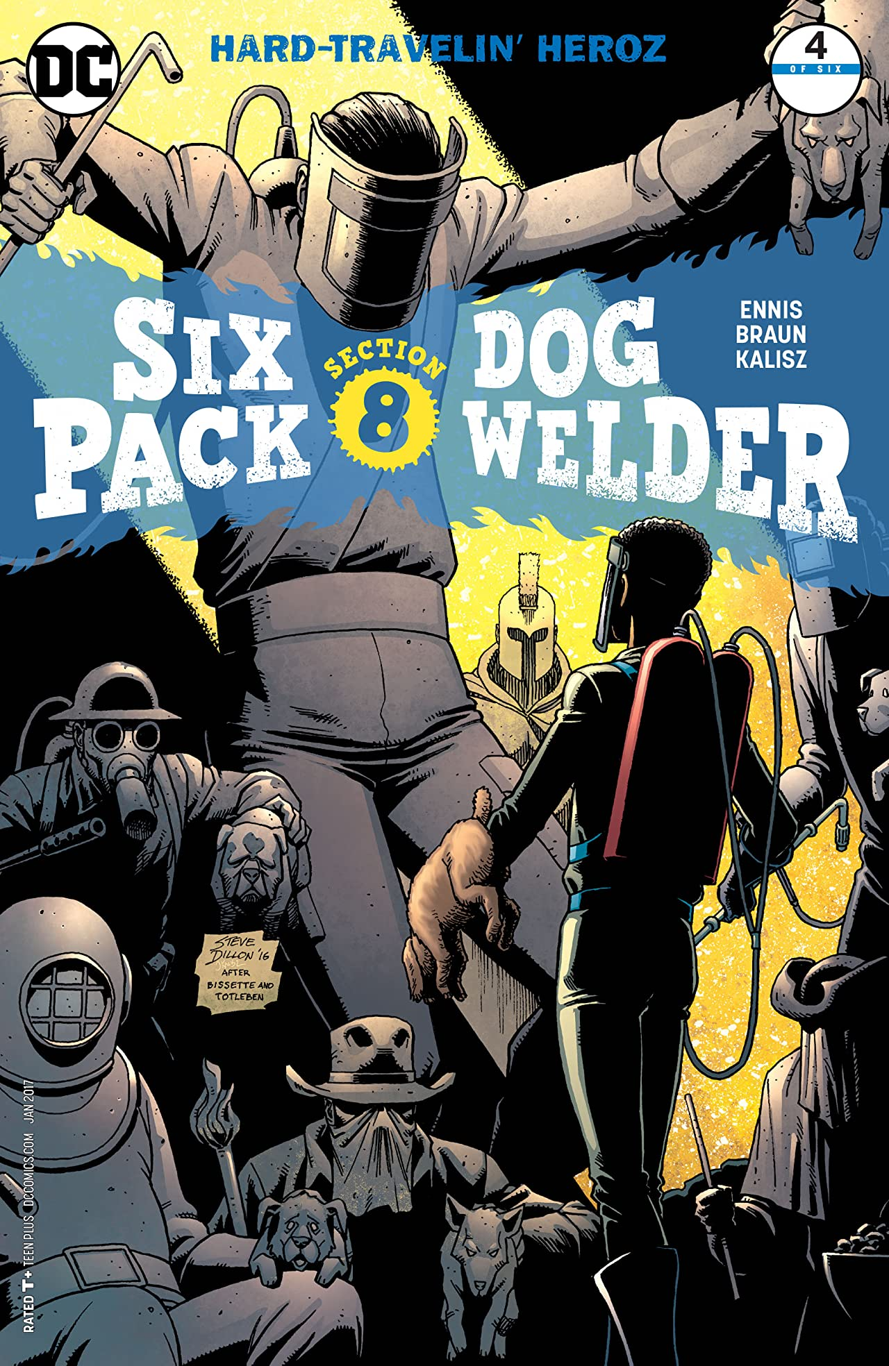 Sixpack and Dogwelder: Hard Travelin' Heroz (2016-2017) #4