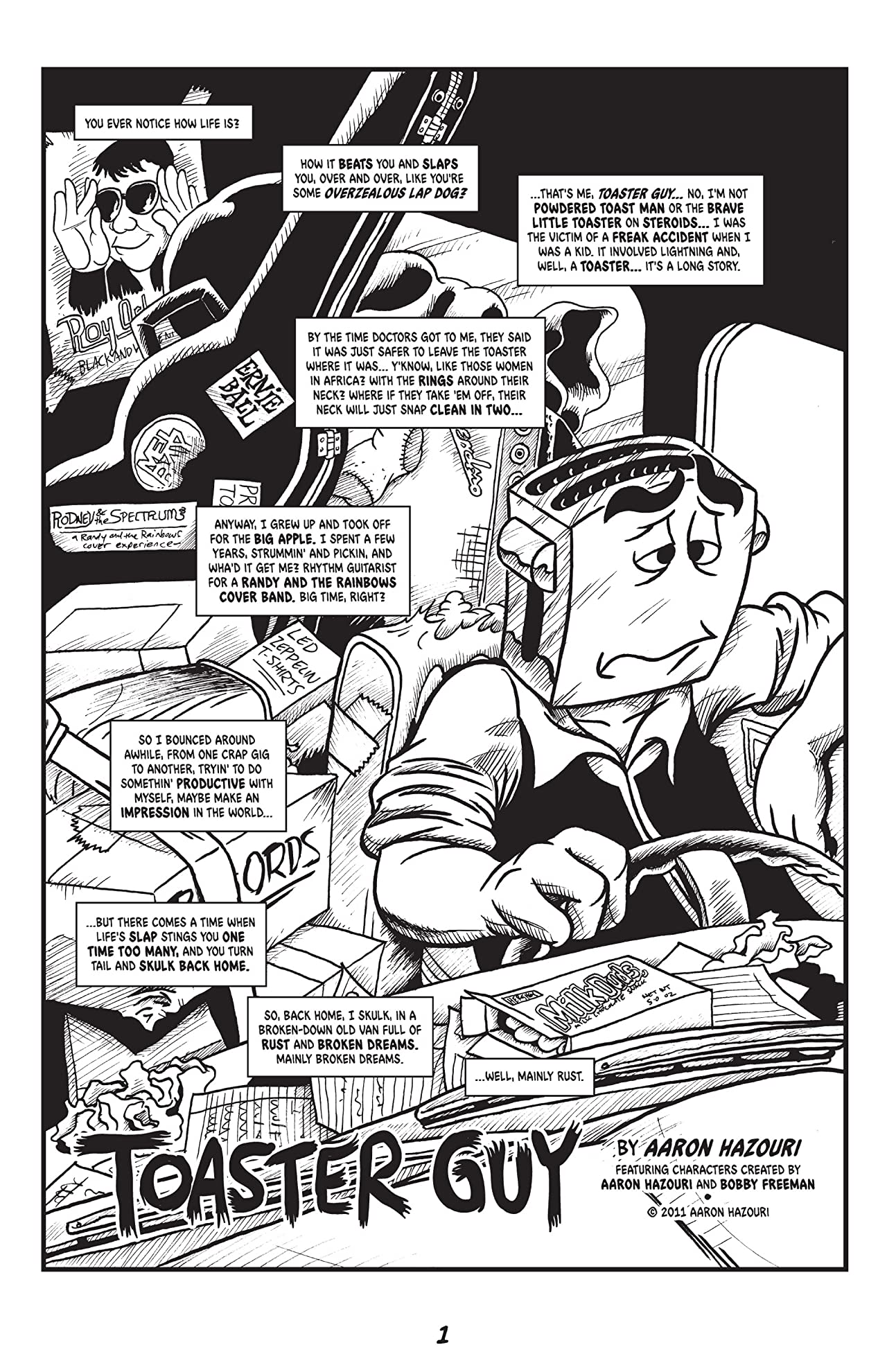 The Strange Adventures of Toaster Guy #1