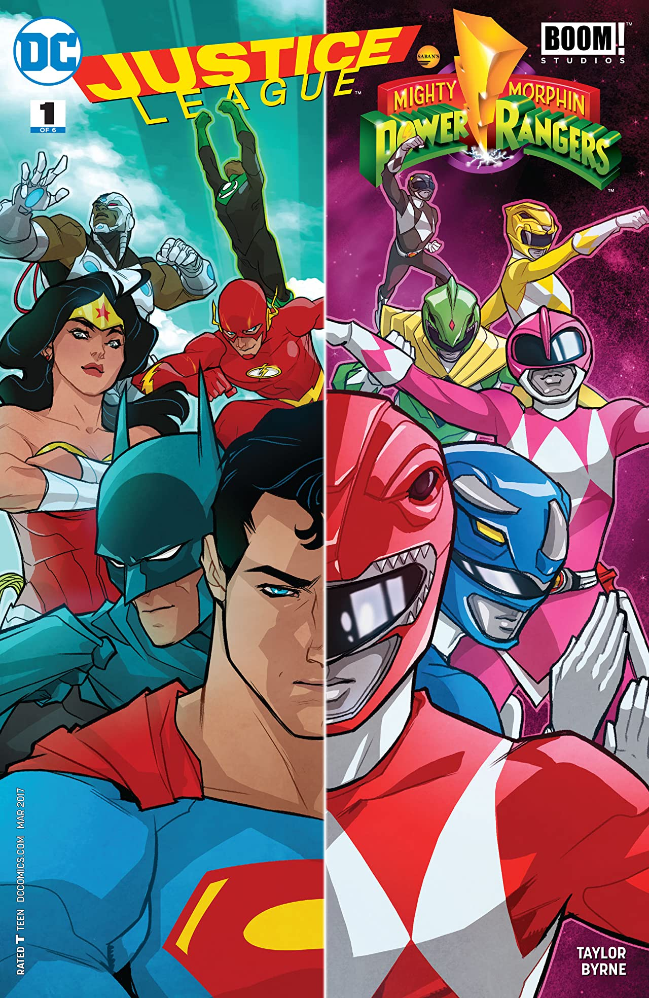 Justice League/Power Rangers (2017) #1
