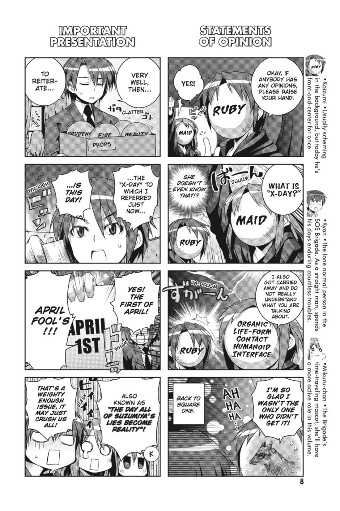 The Melancholy of Suzumiya Haruhi-chan Vol. 4