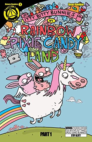 Itty Bitty Bunnies in Rainbow Pixie Candyland No.1