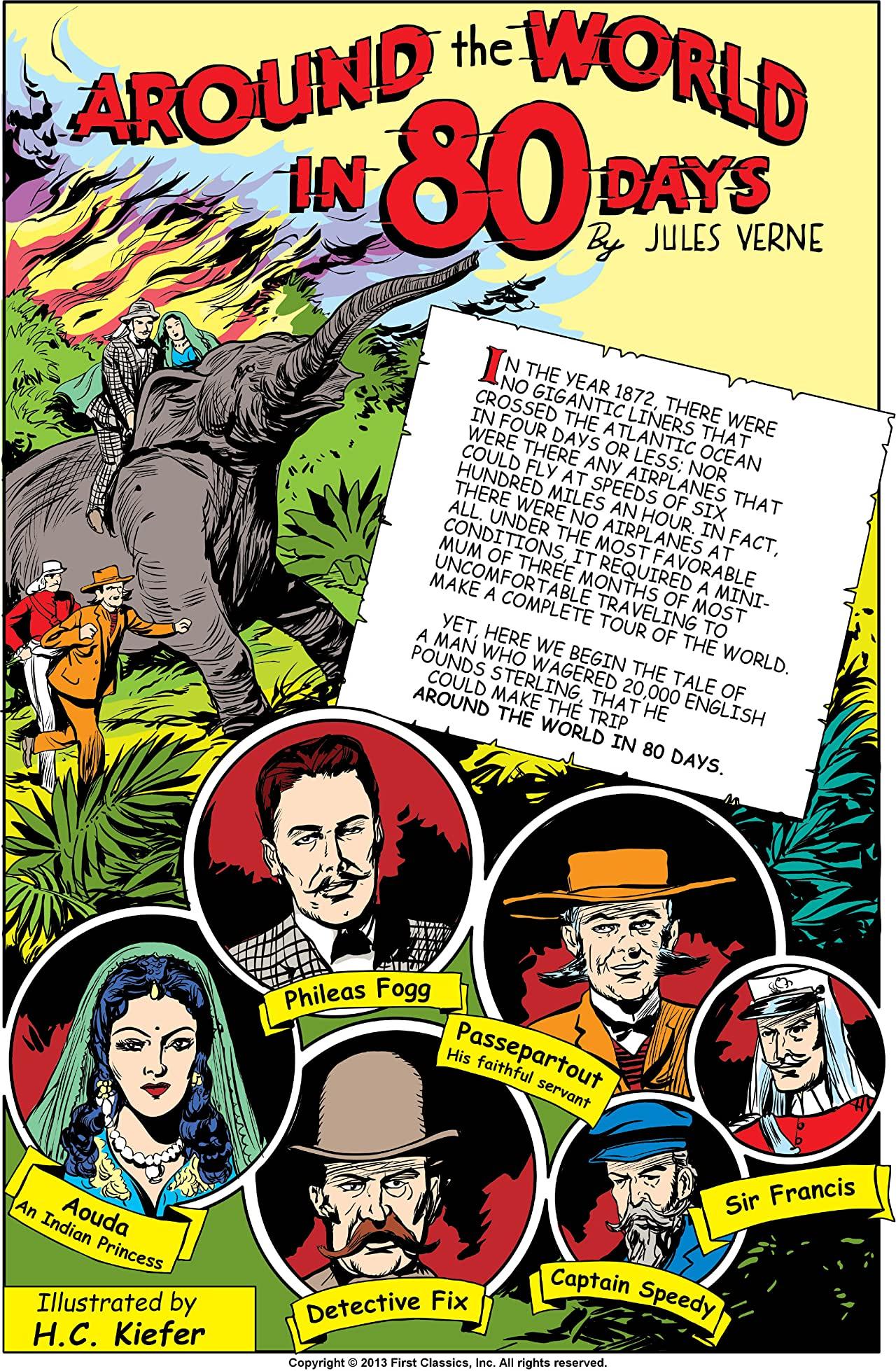 Classics Illustrated #69: Around the World in Eighty Days