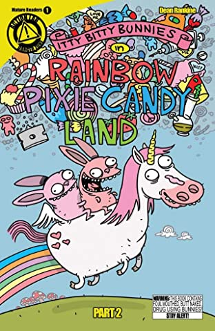 Itty Bitty Bunnies in Rainbow Pixie Candyland No.2