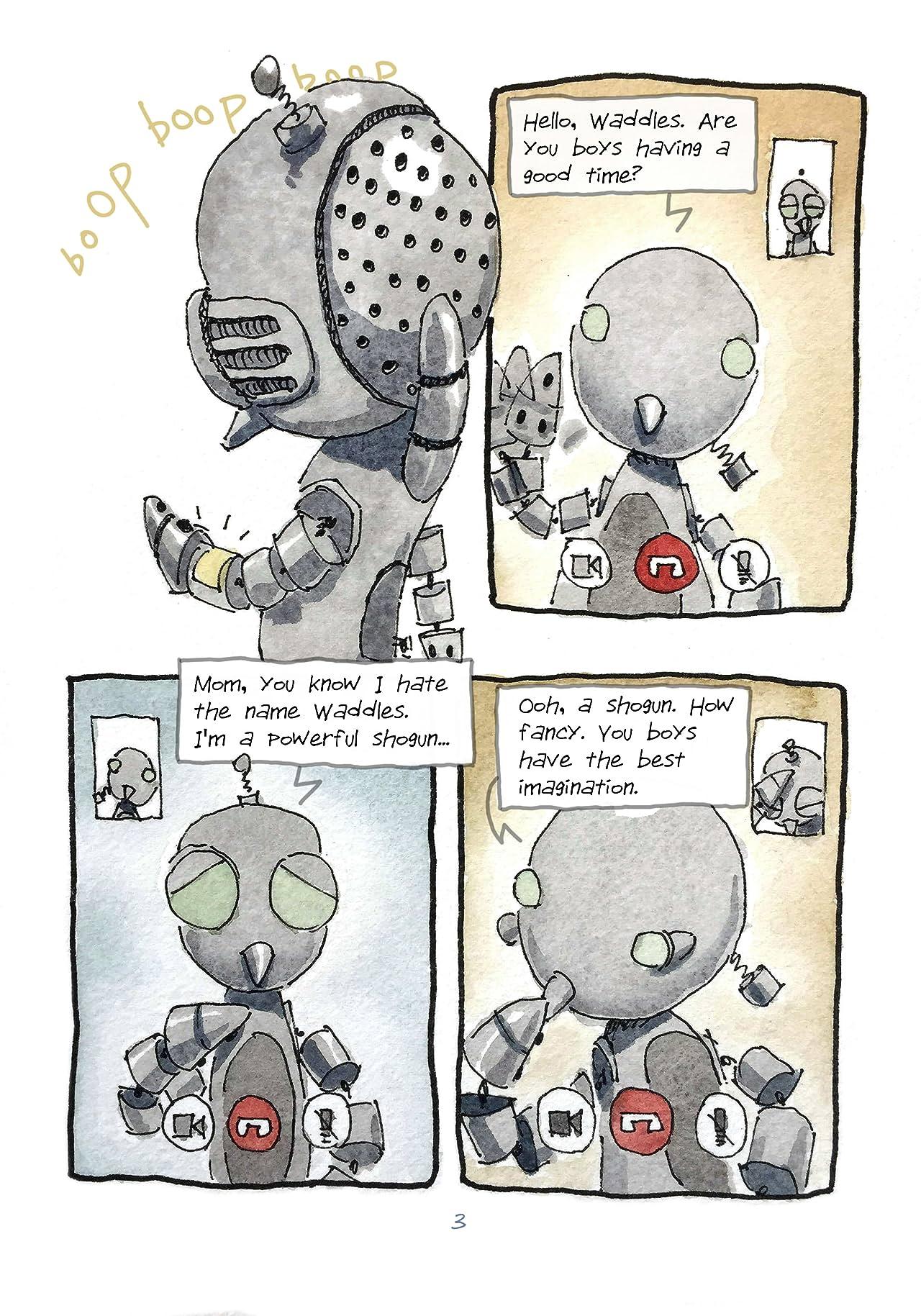Robot Samurai Penguins #4