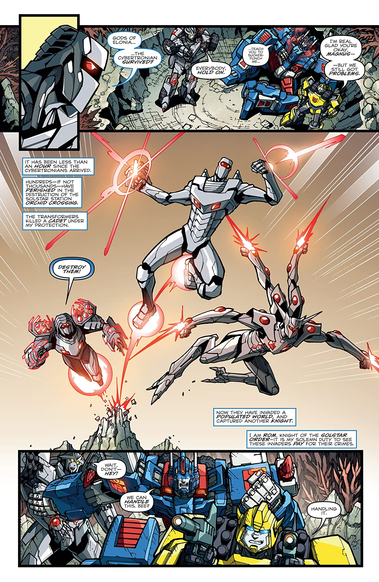 ROM vs. Transformers: Shining Armor #3