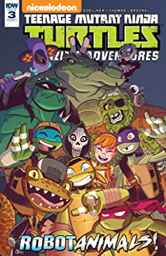 Teenage Mutant Ninja Turtles: Amazing Adventures: Robotanimals! No.3 (sur 3)