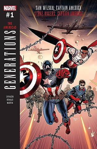 Generations: Sam Wilson Captain America & Steve Rogers Captain America (2017) #1