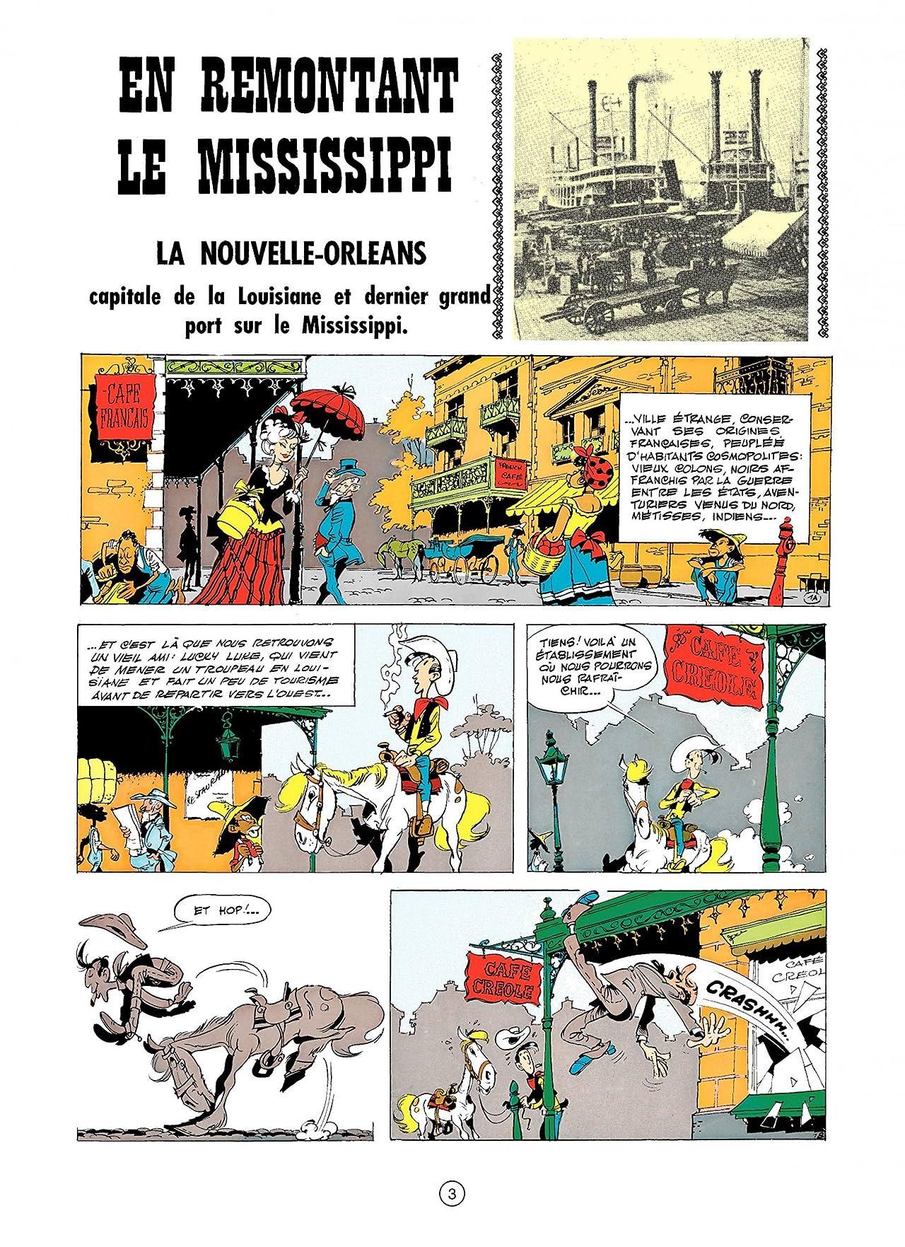 Lucky Luke Tome 16: EN REMONTANT LE MISSISSIPPI
