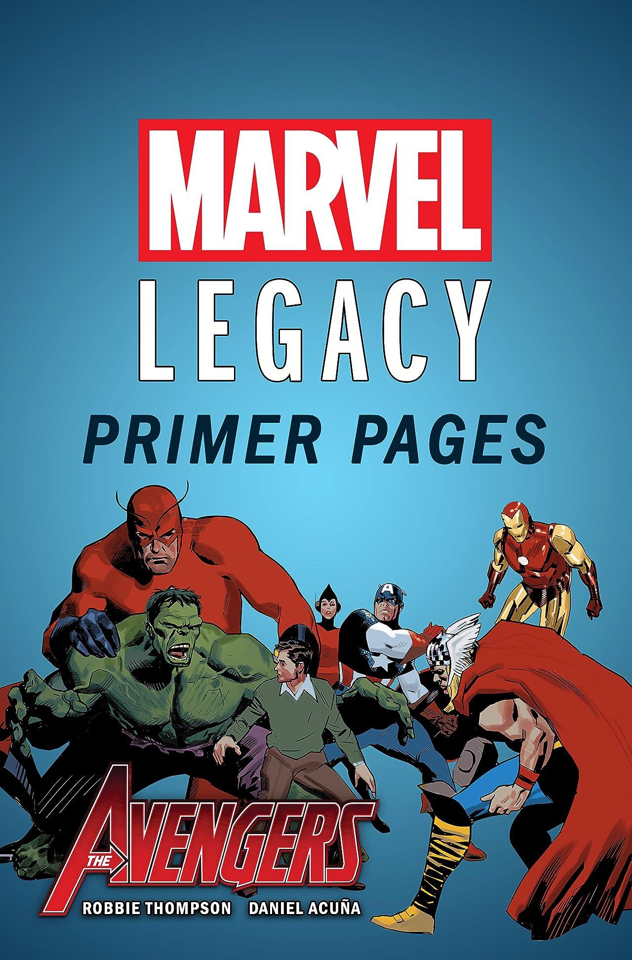 Avengers - Marvel Legacy Primer Pages