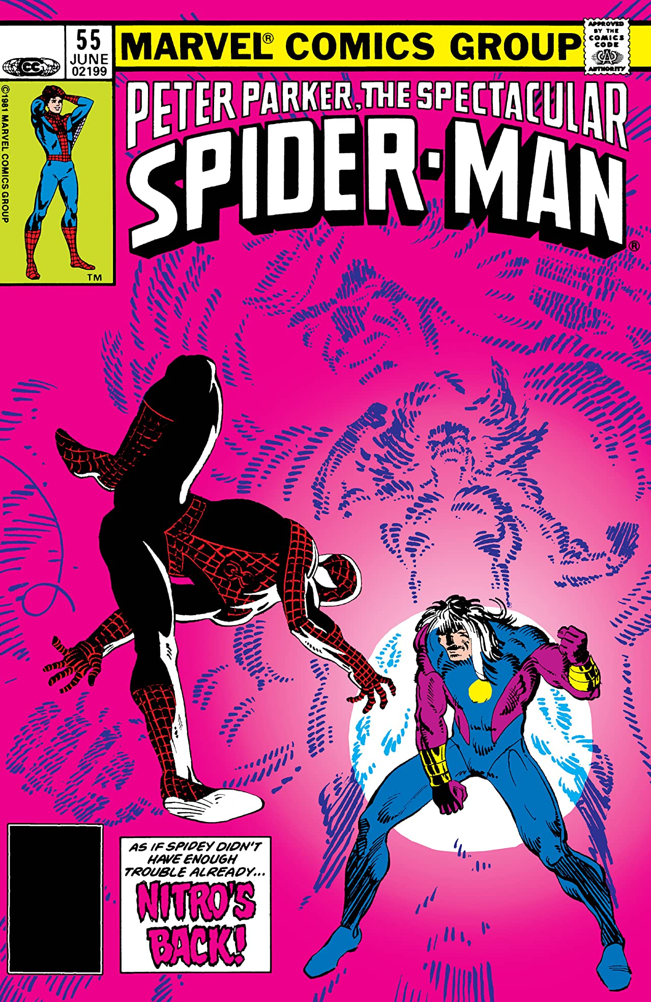Peter Parker, The Spectacular Spider-Man (1976-1998) #55