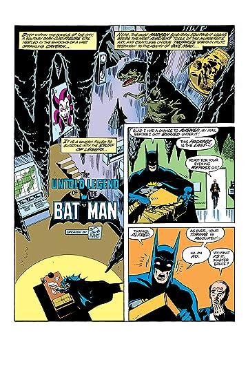 The Untold Legend of the Batman (1980) #1