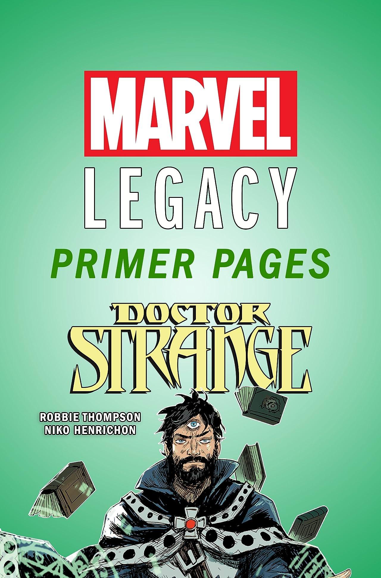 Doctor Strange - Marvel Legacy Primer Pages