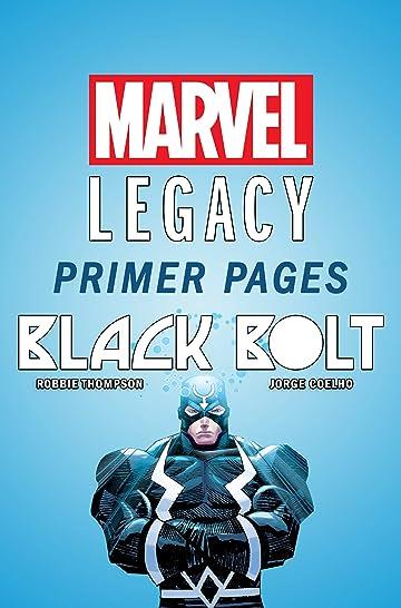 Black Bolt - Marvel Legacy Primer Pages