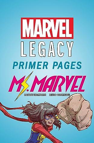 Ms. Marvel - Marvel Legacy Primer Pages