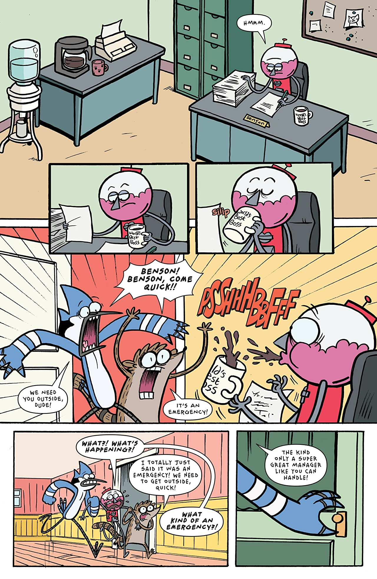 Regular show comics are