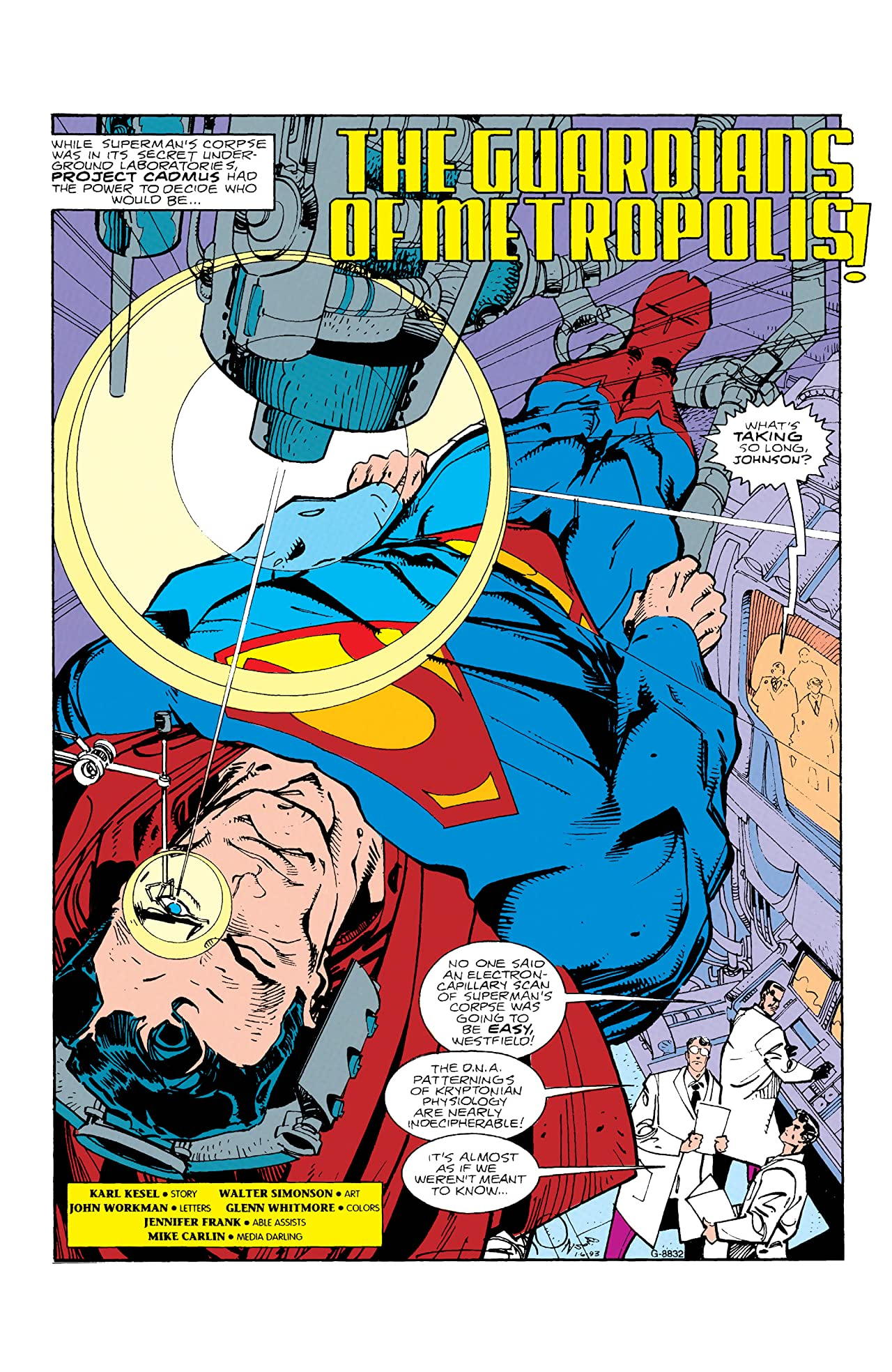Superman: Legacy of Superman (1993) #1