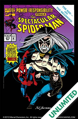 Peter Parker, The Spectacular Spider-Man (1976-1998) #217