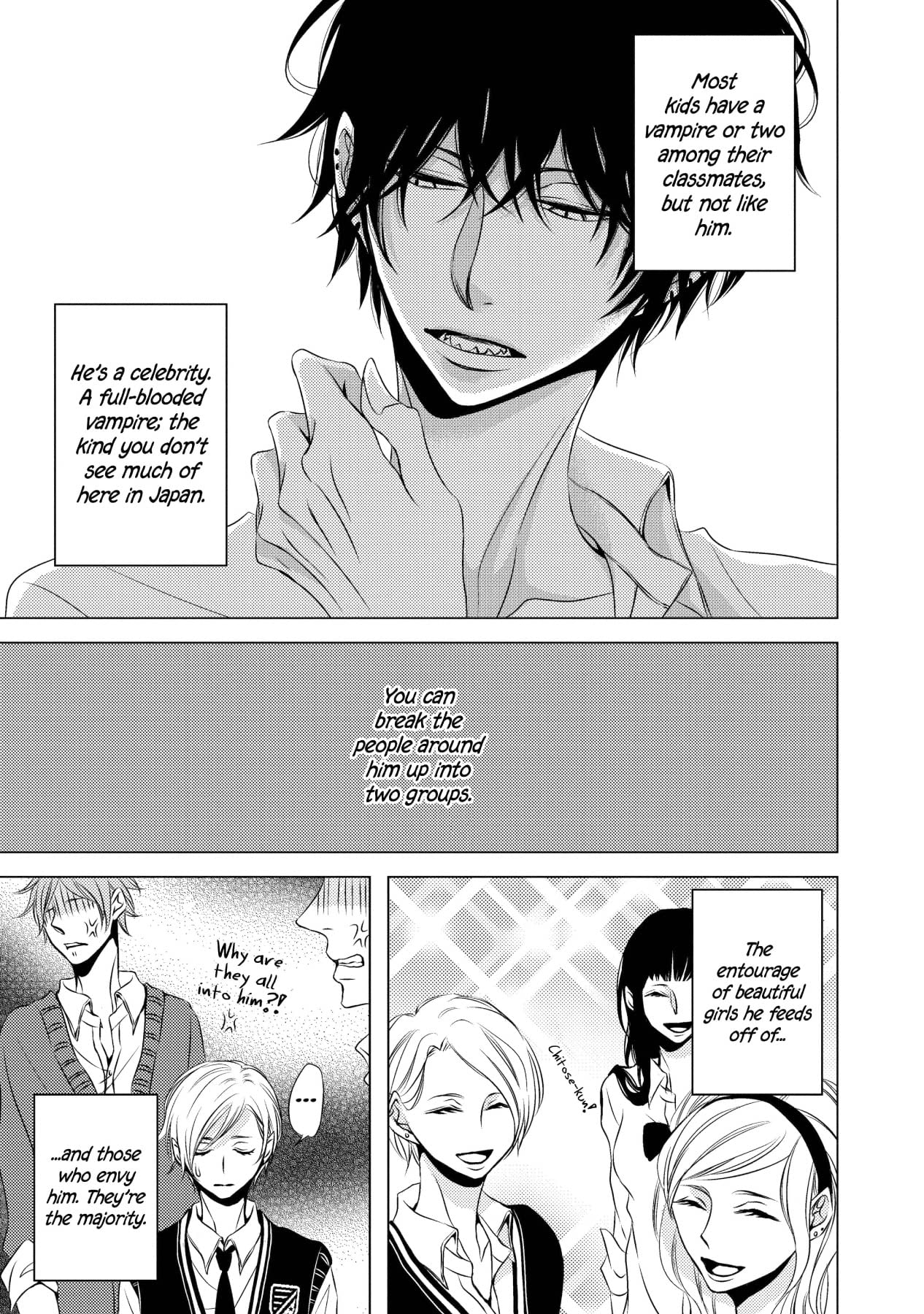 The Vampire and the Virgin Rose (Yaoi Manga) #1