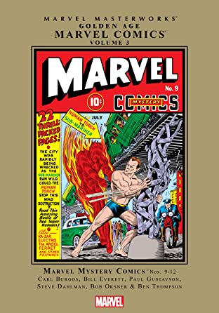 Golden Age Marvel Comics Masterworks Tome 3