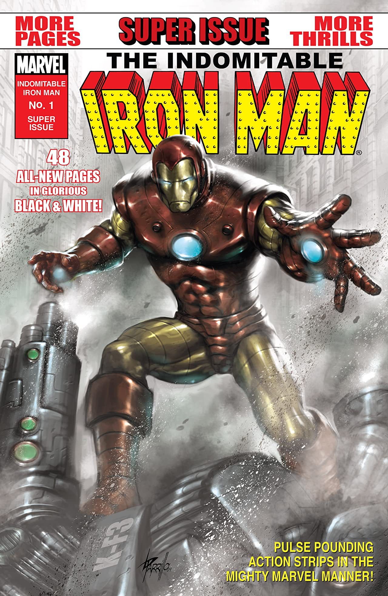The Indomitable Iron Man Black and White (2010) #1