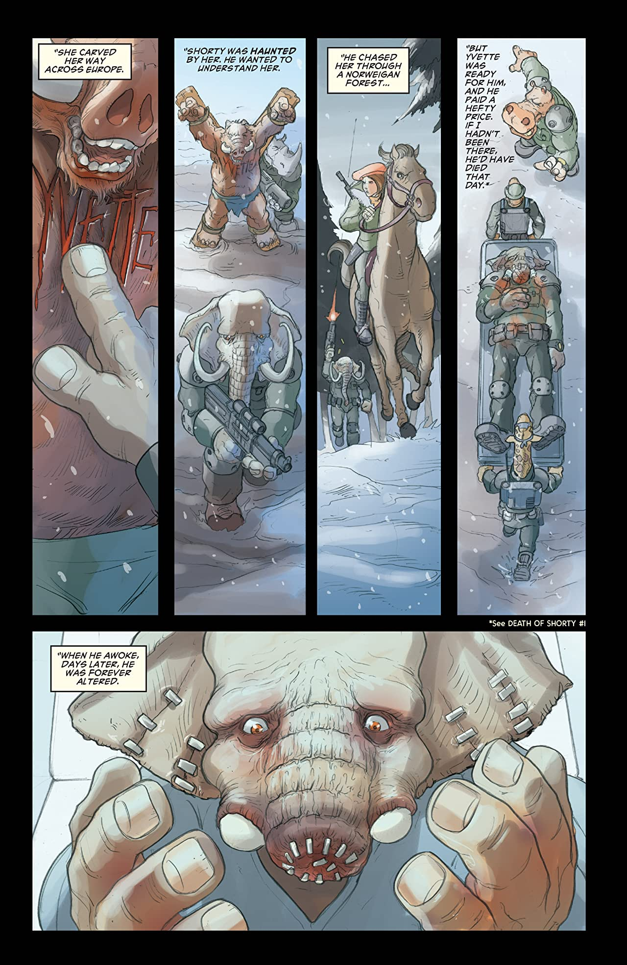 Elephantmen 2261: The Death of Shorty (comiXology Originals) #4 (of 5)