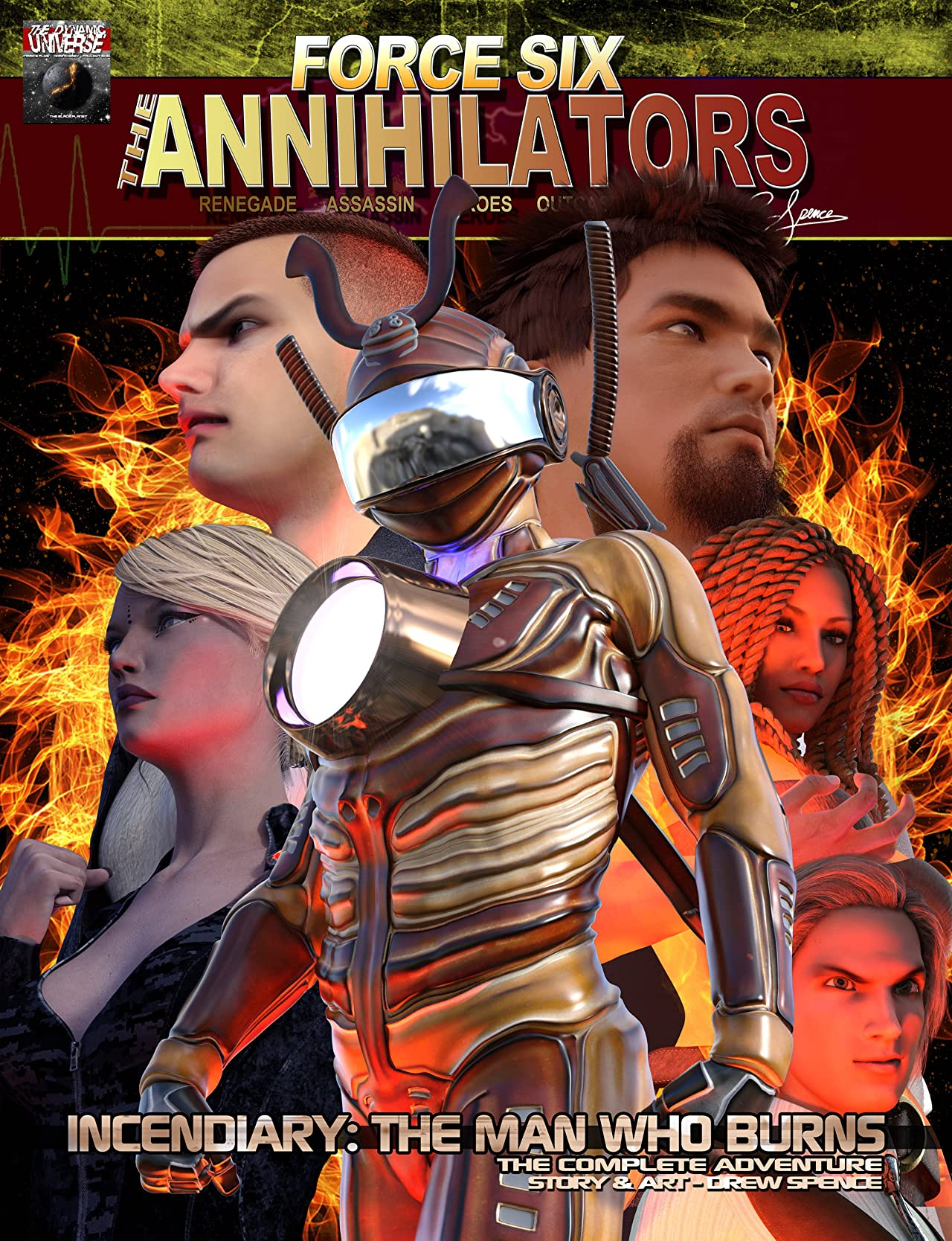 Force Six, The Annihilators: Collection: Incendiary: The Man who Burns