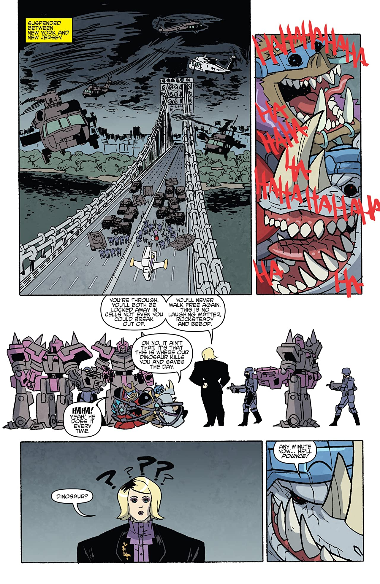 Teenage Mutant Ninja Turtles: Bebop & Rocksteady Hit the Road! No.5 (sur 5)