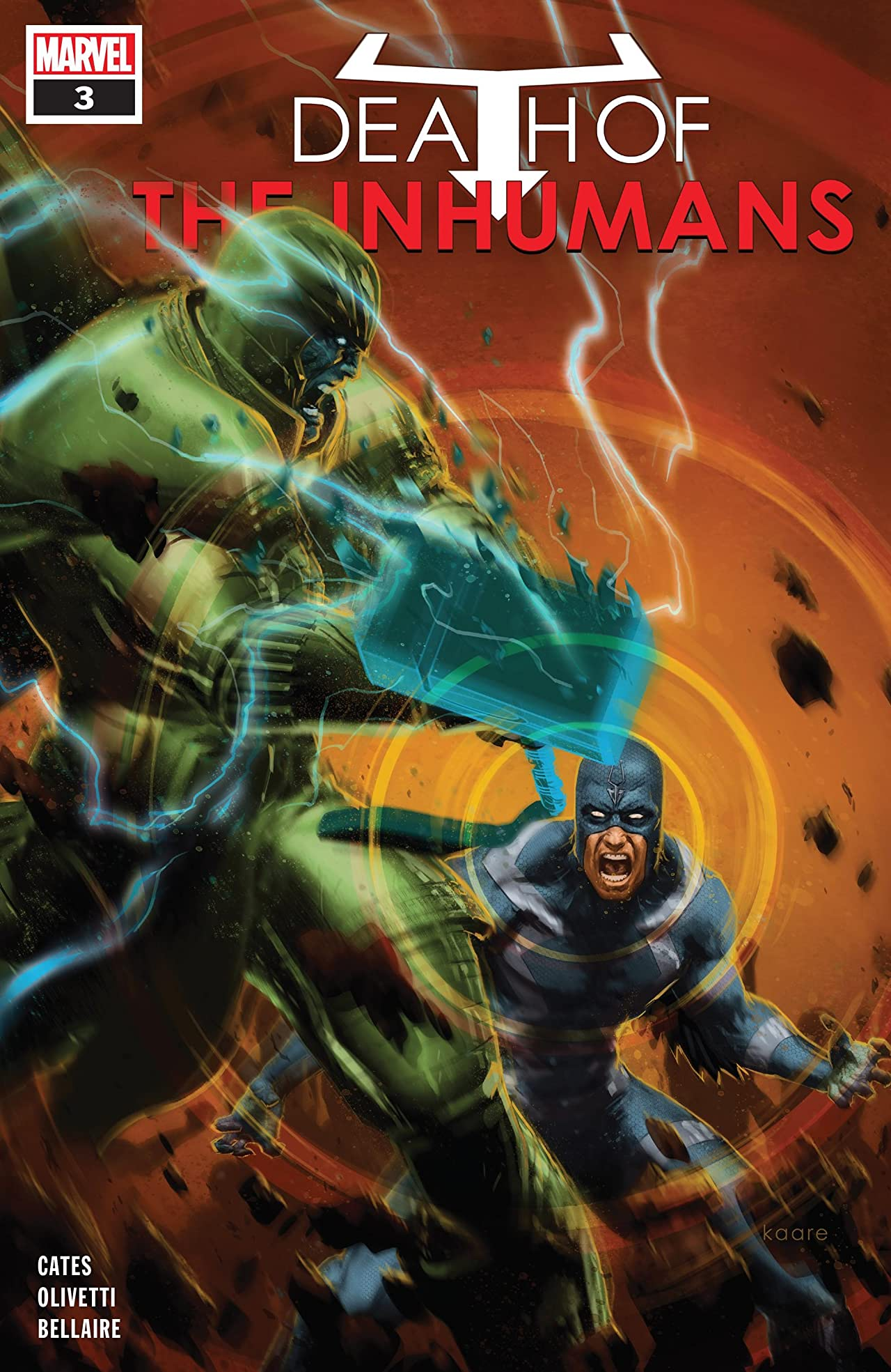 Death Of The Inhumans (2018) No.3 (sur 5)
