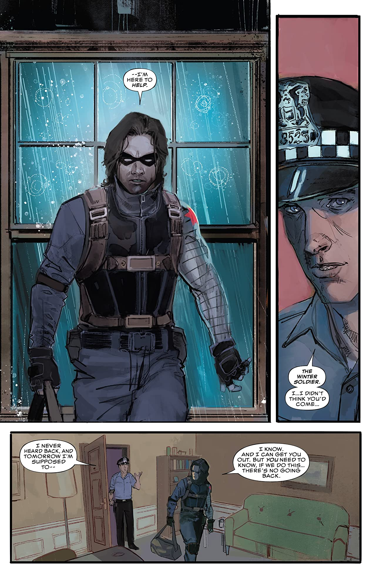 Winter Soldier #1 (2018) page, published by Marvel Comics
