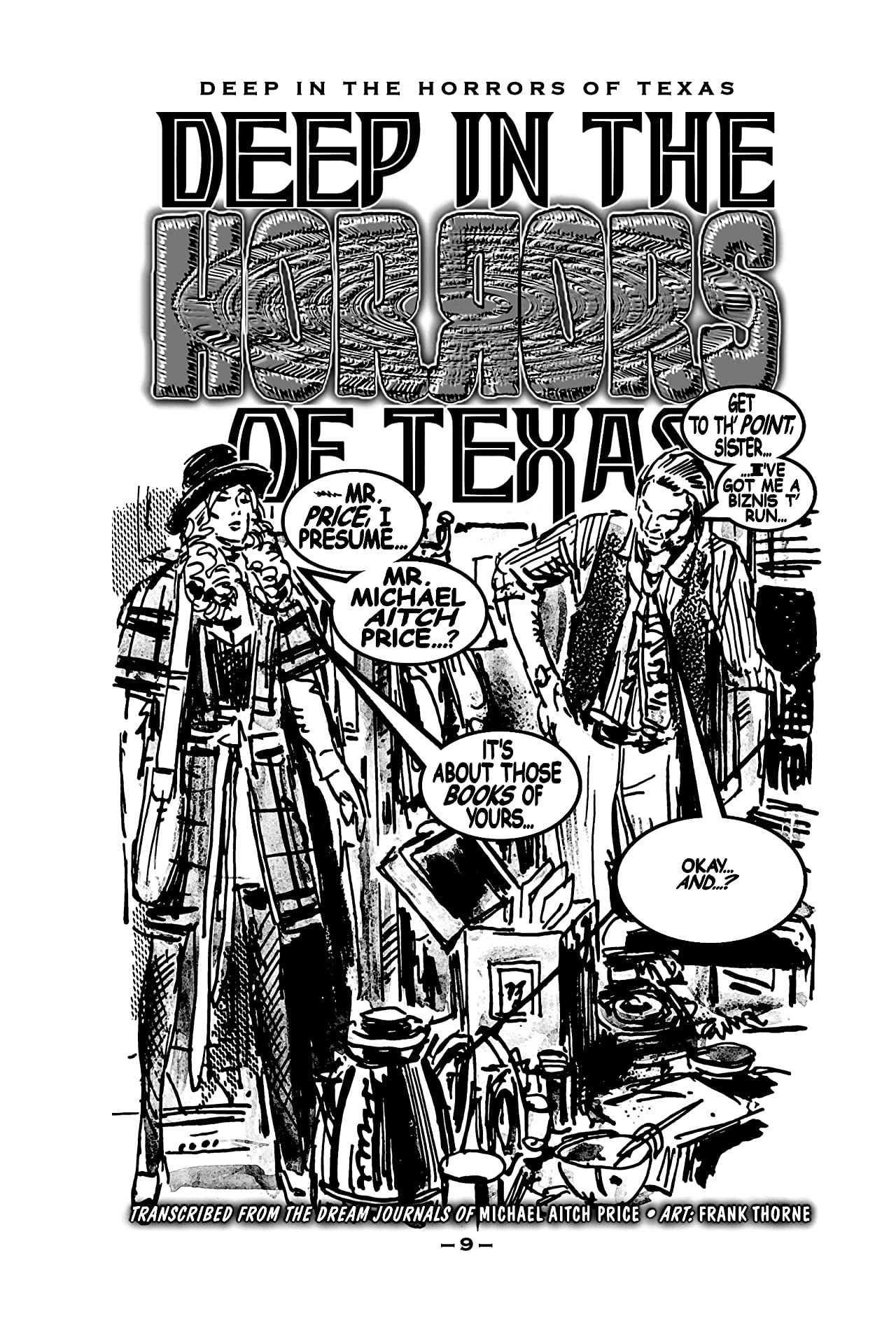 Deep in the Horrors of Texas: Comics from the Gone World
